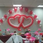 Пример оформления зала шарами