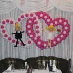 сердца из шаров свадьба