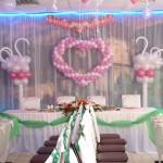 оформление президиума на свадьбе
