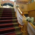 оформление лестницы тканями