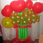 Ц48-1100 рублей (11 цветков+5 сердец)